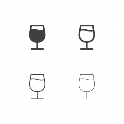 Wine Glass Icons - Multi Series