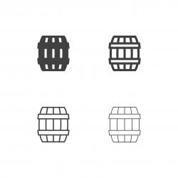 Oak Barrel Icons - Multi Series