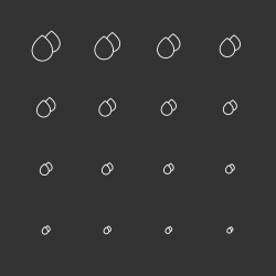 Water Drop Icons - White Multi Scale Line Series