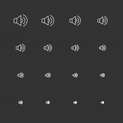 Speaker Icons - White Multi Scale Line Series