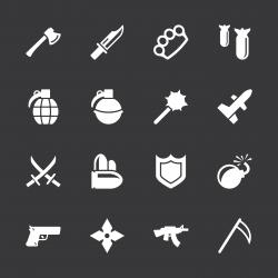 Weapon Icons - White Series | EPS10