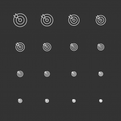 Target Icons - White Multi Scale Line Series