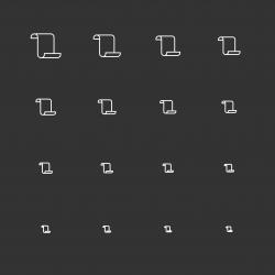 Paper Icons - White Multi Scale Line Series