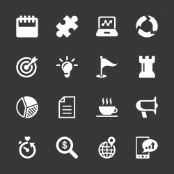 Business Strategy Icons - White Series | EPS10