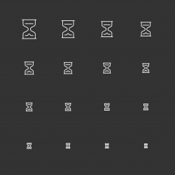Hourglass - White Multi Scale Line Series