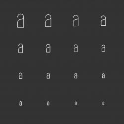 Doorknob Icons - White Multi Scale Line Series