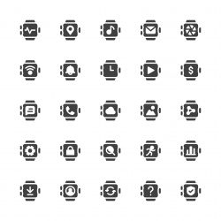 Smart Watch Icons - Gray Series