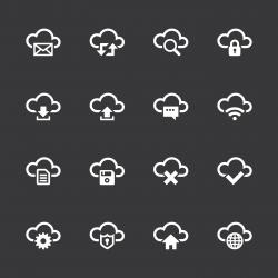 Cloud Computing Icons - White Series | EPS10