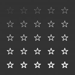 Star Shape Icon - White Multi Line Series
