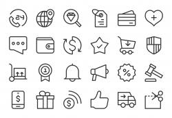 E-Commerce Icons - Light Line Series