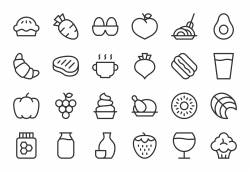 Food and Drink Icons Set 2 - Light Line Series