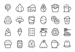 Food and Drink Icons Set 3 - Light Line Series