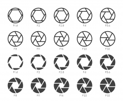 Size of Aperture Set 1 - Multi Icons Series