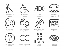 Disabled Accessibility Icons - Light Line Series
