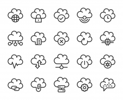 Cloud Computing - Line Icons