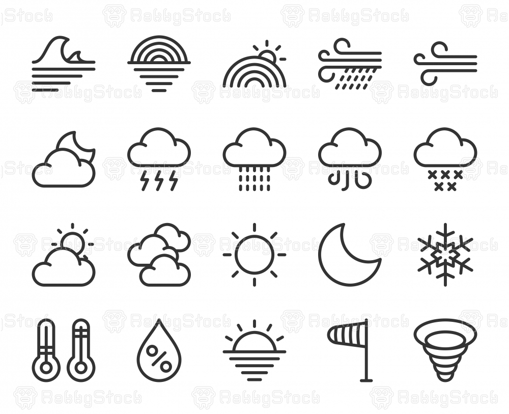 Weather - Line Icons