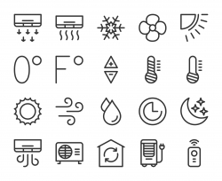 Air Conditioner - Line Icons