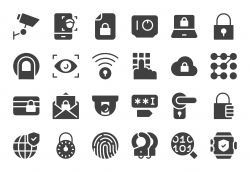 Security System Icons - Gray Series