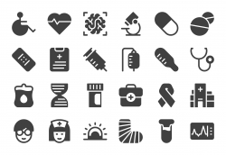 Healthcare and Medical Icons - Gray Series