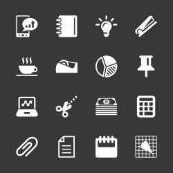 Office and Business Icons - White Series | EPS10
