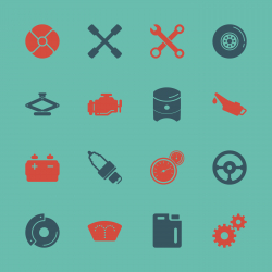 Car Tools Icons - Color Series | EPS10