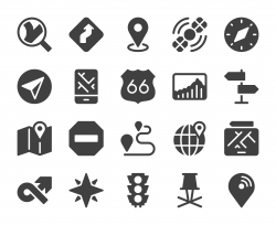 GPS and Navigation - Icons