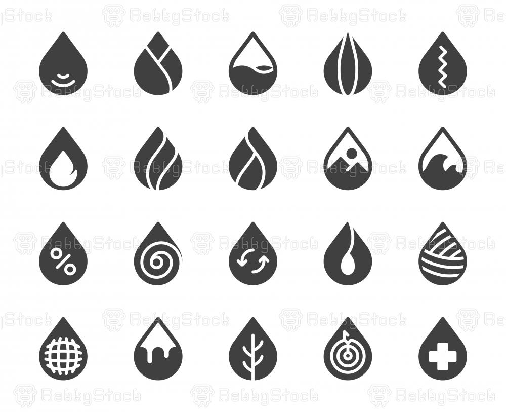 Drop Shape - Icons