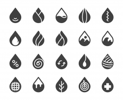 Drop Shape - Icons