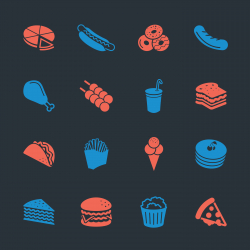 Fast Food Icons - Color Series | EPS10