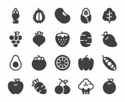 Fruit and Vegetable - Icons