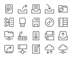 Data Storage - Line Icons
