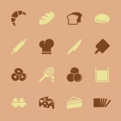 Bakery Icons - Color Series | EPS10