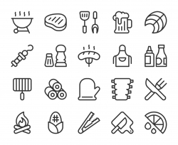 Barbecue Grill - Line Icons