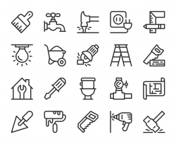 Home Repair - Line Icons