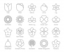Flower - Thin Line Icons