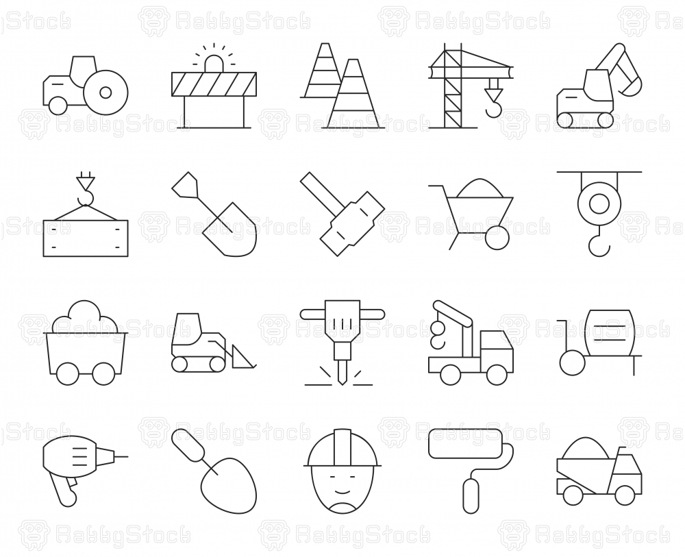 Construction - Thin Line Icons