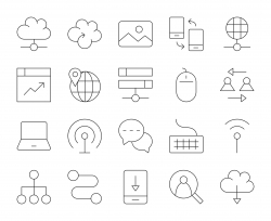Internet - Thin Line Icons