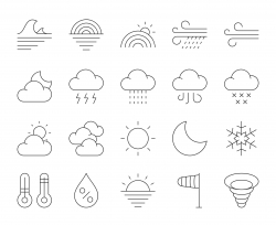 Weather - Thin Line Icons