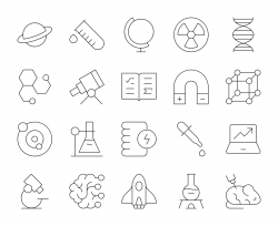 Science - Thin Line Icons