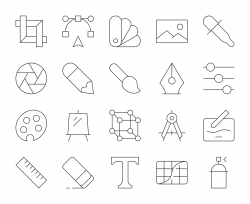 Design and Drawing - Thin Line Icons