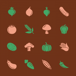 Vegetable Icons - Color Series   EPS10