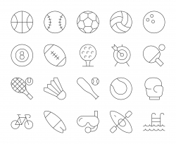 Sport - Thin Line Icons