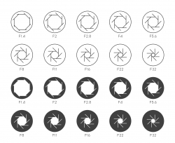 Size of Aperture Set 4 - Multi Thin Icons