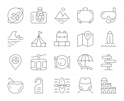 Travel - Thin Line Icons