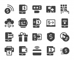 Mobile Banking and Payment - Icons