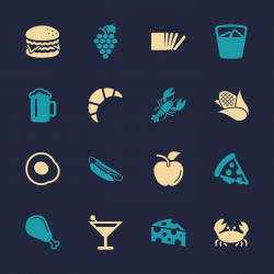 Food and Drink Icons 1 - Color Series | EPS10