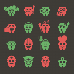 Emoticons Set 4 - Color Series | EPS10
