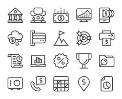 Business and Finance - Line Icons