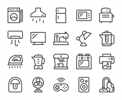 Household Appliances - Line Icons