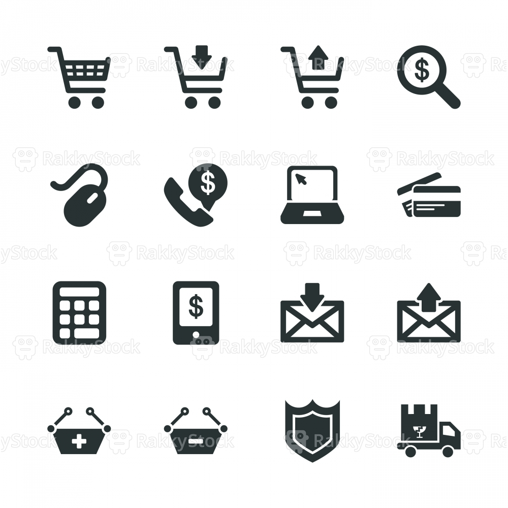 E-commerce Silhouette Icons